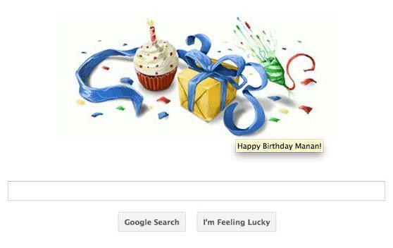 روز تولدتان حتما صفحه اصلی گوگل را باز کنید تا کادوی تولد بگیرید