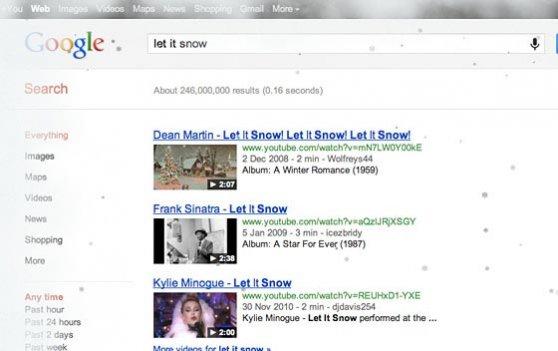 گوگل، برف سال نوی میلادی را به کاربرانش هدیه می دهد